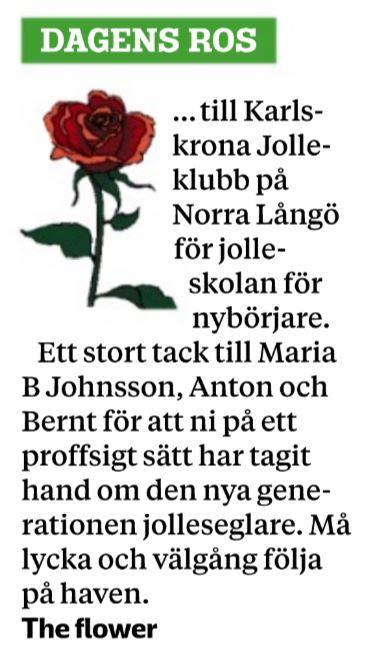 Tidningsklipp, BLT, Dagens Ros 2017-06-20