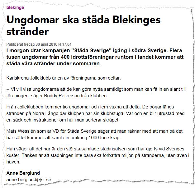 Sveriges Radio P4 2010-04-30