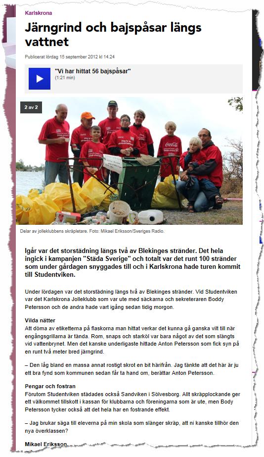 Sveriges Radio P4 2012-09-15