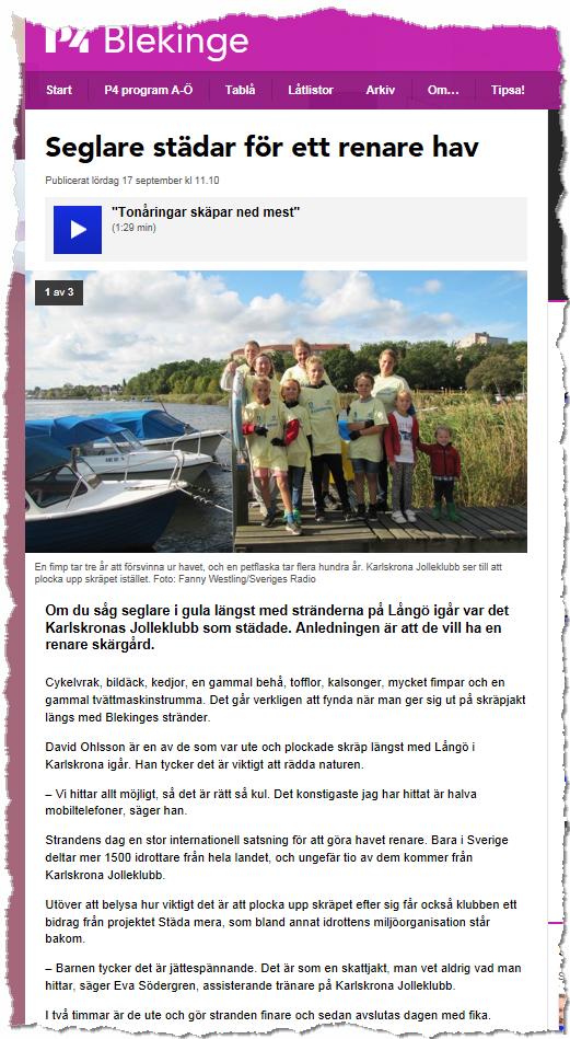 Sveriges Radio P4 2016-09-17