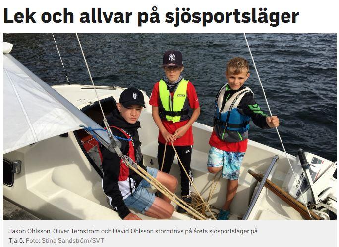 Blekinge Båtförbunds Sjösportsläger på Tjärö 2017.